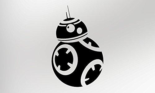 Draag Graphics Star Wars BB-8 (zwart) - Vinyl Sticker (Pak van twee)