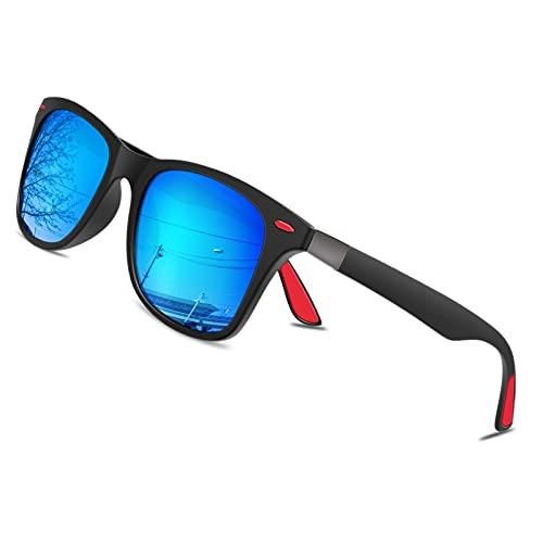 BONDDI Gafas de Sol, Gafas de Sol Polarizadas Marco Irrompible Gafas Protección UV400 Gafas para Hombres Mujeres (Azul)