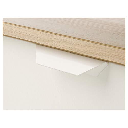 IKEA ASKVOLL komoda z 3 szufladami bejcowany na biało efekt dębu/biała