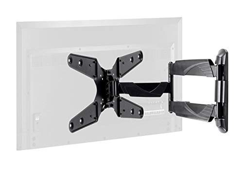 Monoprice TV Wall Mount Bracket for TVs 24in to 55in, Full-Motion Articulating, Max Weight 77lbs, VESA Patterns Up to 400x400, Rotating, UL Certified - Select Series, Black