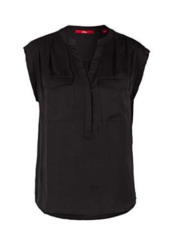 s.Oliver Damen 120.10.004.10.100.2036781 Bluse, Black, 44
