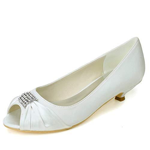Ronda del dedo del pie zapatos de novia, zapatos de mujer Bombas...