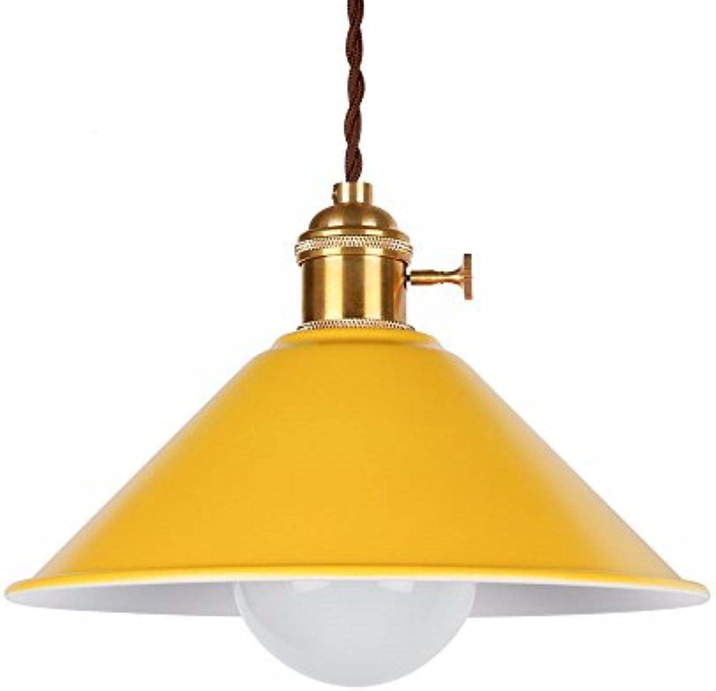 Yuyu19-Chandelier Kronleuchter Nordic Industrial Vintage Loft Deckenleuchte Küche Schlafzimmer Bar Wohnzimmer Esszimmer Eisen Bunter Kronleuchter Bronze, Gelb