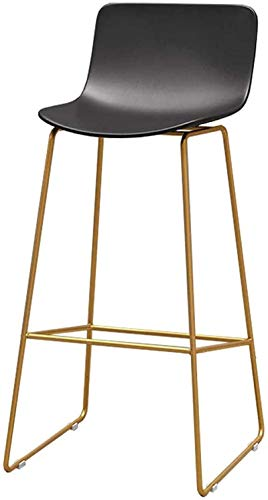 JYV Modern Barstool Bar Chair with Metal Legs, Breakfast Barstools for Kitchen Island, Counter, Office, Pub, Bistro (Color : 65cm, Size : 1pcs)