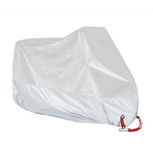 Cubierta de motocicleta impermeable al aire libre para almacenamiento exterior multiusos anti-lluvia nieve y polvo para todo tipo de clima, cubierta protectora impermeable (XXL)