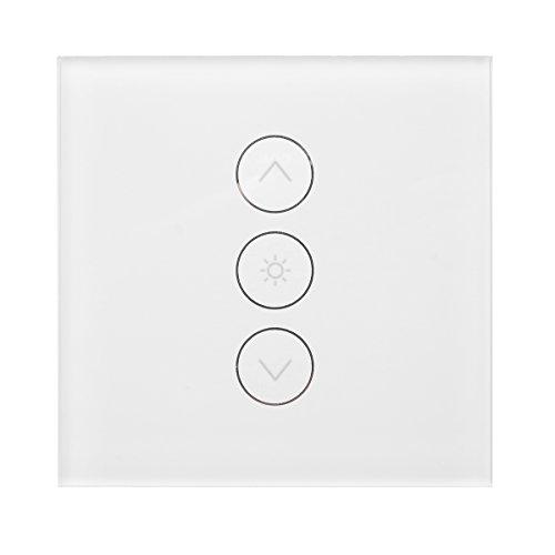 KUNSE Smart Switch Dimmer wifi-lichtschakelaar Touch Wand stopcontact Switch Panel werken met Amazon Echo en Goog