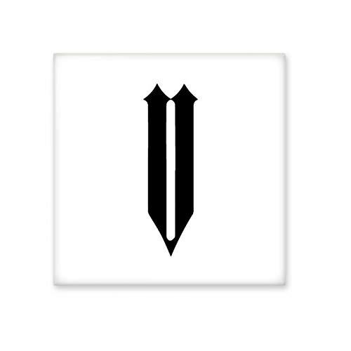 Romeinse cijfers Vijf In Zwart silhouet Keramische Bisque Tegels Badkamer Decor Keuken Keramische Tegels Wandtegels L