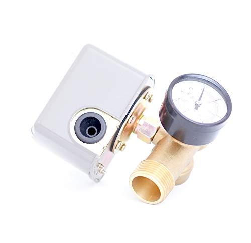 Hauswasserwerk Druckschalter/Druckwächter Set für Druckkessel bestehend aus Druckschalter + Manometer + 5-Wege-Verteiler aus Messing DN25 1