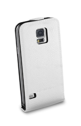 Cellular Line FLAPESSENGALS5W Kunstleder Klapptasche für Samsung Galaxy S5 (Magnetverschluss, volle Bedienbarkeit) wieß