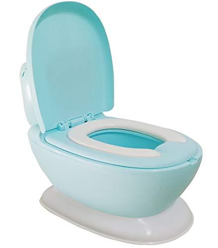 Glenmore Orinal en Forma de Water Mini WC Inodoro para Bebe Ninos Nina Retrete Infantil con Tapa Aprendizaje con Sonidos Azul
