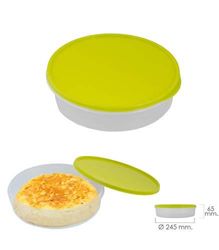 ORYX 5071005 Fiambrera Para Tortillas Redonda Ø 24.5 cm. 2 Litros, plástico