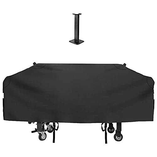 QuliMetal 36' Grill Griddle Cover for Blackstone Outdoor Cooking Flat Top Griddle Station, Camp Chef Flat Top Grill and Most 4 Burner Flat Top Grill Griddle, 600D Heavy Duty Cover with Support Pole