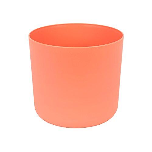 Classique cache-pot en plastique Aruba 17 cm en orange couleur