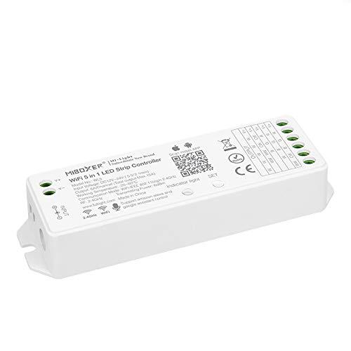BTF-LIGHTING LED-Streifen 5 in 1 Miboxer WL5 2,4 GHz WiFi-Controller Kompatibel mit Alexa Google Home Assistant Smartphone APP-Steuerung für monochrome RGB RGBW WW+CW RGB CCT LED-Streifen