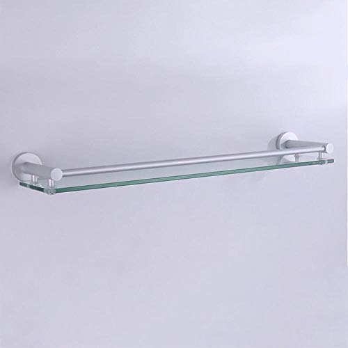 ZQYD Marco circular de aluminio + vidrio de 8 mm con rieles de protección de una sola capa para baño