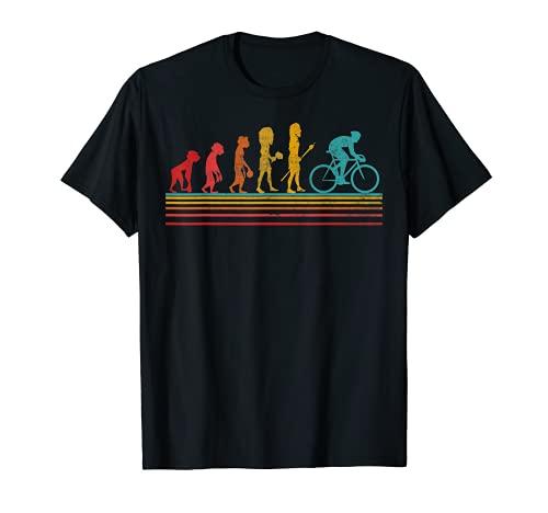 Ciclista Ciclismo Bicicletta Evoluzione Uomo Divertente Maglietta