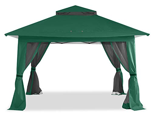 ABCCANOPY 13'x13' Gazebo Tent Outdoor Pop up Gazebo Canopy Shelter with Mosquito Netting (Forest Green)
