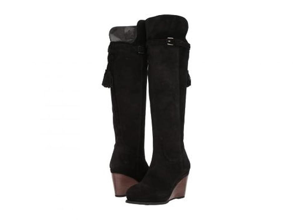 真っ逆さますぐにオーケストラAriat(アリアト) レディース 女性用 シューズ 靴 ブーツ ロングブーツ Knoxville - Black Suede [並行輸入品]