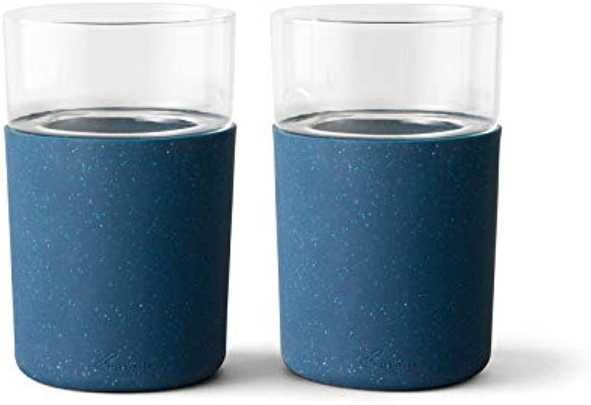Rabbit R5 21308 Freezable Beer Glasses Set Of 2 Speckled Navy