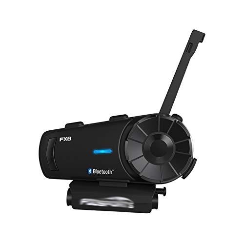 XYBH Xybhjxb Casco de Motocicleta Bluetooth Intercom Casco Casco Auriculares 1000m 8 Rider BT InterCom Intercom FM