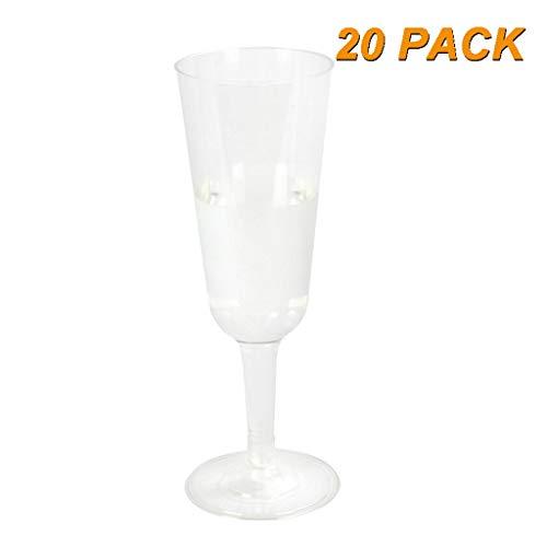 Wegwerp Cold Drink Party Cups Wegwerp Plastic Cups 20 Champagne Glas Wijnglas Transparant Cup Combinatie Lange Beker Familie Party Bruiloft Toast 5 Oz Wijnglazen Bulk Party Cups