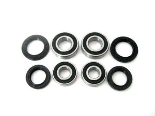 BossBearing Both Front Wheel Bearings and Seals Kit for Honda TRX300 Fourtrax 2WD 1988 to 1992