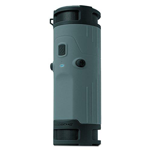 Scosche BTBTLGY Boom Bottle Weatherproof Wireless Portable Speaker, Grey/Black