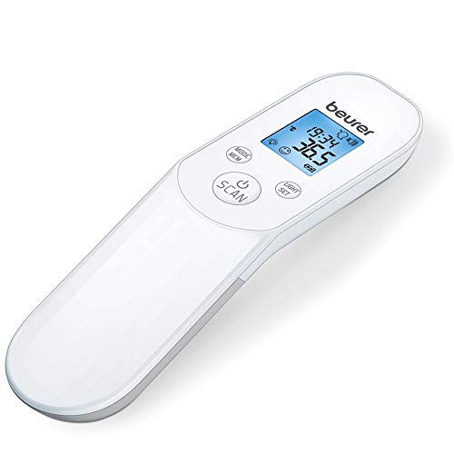 Beurer FT 85 kontaktloses digitales Infrarotthermometer, schnelles Fieberthermometer zur hygienischen, sicheren Messung der Körpertemperatur an der Stirn