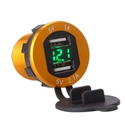 ExcLent Chargeur De Voiture Portable À Double Port USB - Jaune