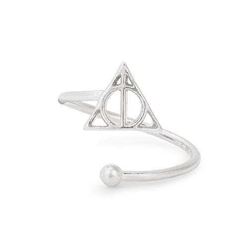 Alex and Ani Women's Harry Potter Deathly Hallows Ring Wrap, Sterling Silver