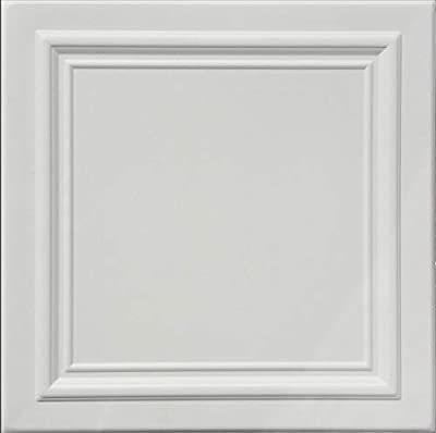 Zeta White (Foam) Ceiling Tile - 40pc Box - Decorative Ceiling Tile Easy Glue up DIY