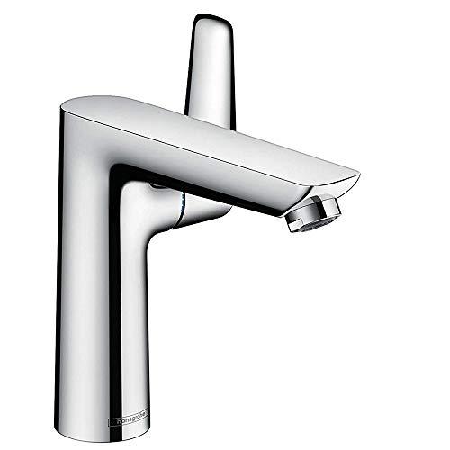 hansgrohe Wasserhahn Talis E (Armatur mit Auslauf Höhe 150mm und Zugstangen-Ablaufgarnitur) Chrom