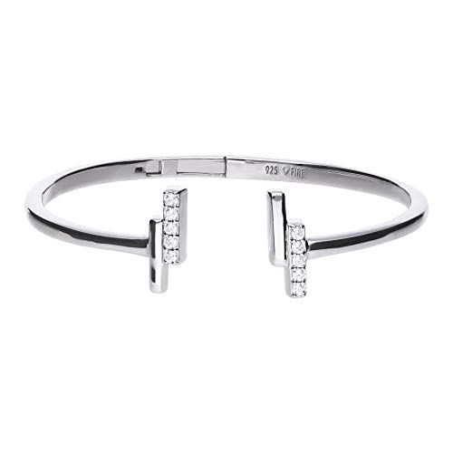 Diamonfire B5093 Silver Open Cuff Bangle