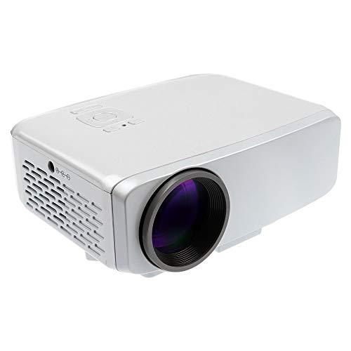 Projeatione Mini Beamer, 3,7-inch LCD-scherm, groene en energiebesparende lichtbron, glazen lens optisch gecoate lens