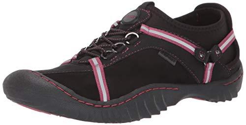 JSport by Jambu Women's Tahoe Ultra Sneaker, Black/Rose Dust, 11 M US