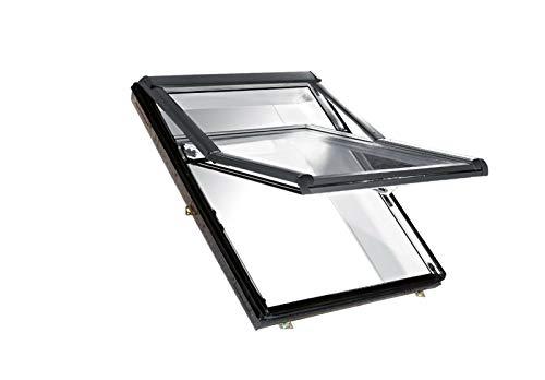 Roto Designo R75 K Dachfenster Hoch-Schwingfenster aus Kunststoff mit Eindeckrahmen (Eindeckrahmen: SDS, 65 x 118)