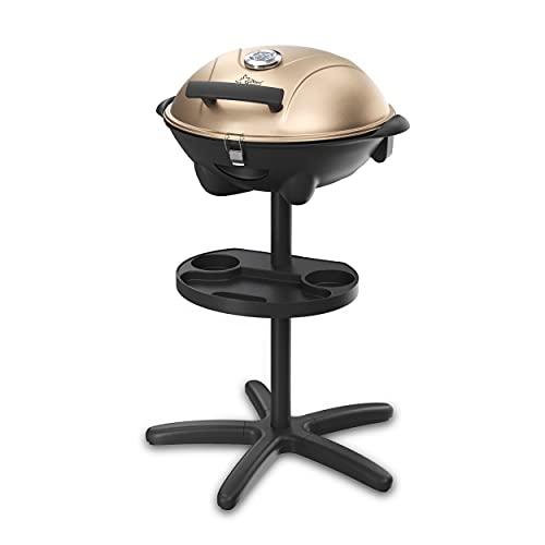 barbecue elettrico foreman Barbecue elettrico BBQ-9479 SUNTEC | utilizzo all'esterno come barbecue autonomo o da tavolo | in balcone
