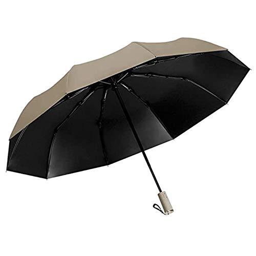 Zarupeng Ombrello automatico da golf, da viaggio, protezione dai raggi UV, sole, pioggia, ombrello automatico, per esterni, golf, ombrello pieghevole compatto d S