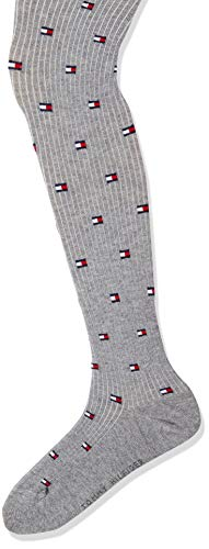Tommy Hilfiger Girls TH Kids 1P Flag Tights, middle grey melange, 98/104