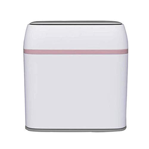 MGEM vuilnisbak, afvalbak slank plastic met dop vuilnisbak met handvat Rubbish opslag recycling vuilnisbak voor keuken slaapkamer badkamer12L