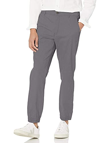 Amazon Essentials Men's Slim-Fit Jogger Pant, Dark Grey, Small