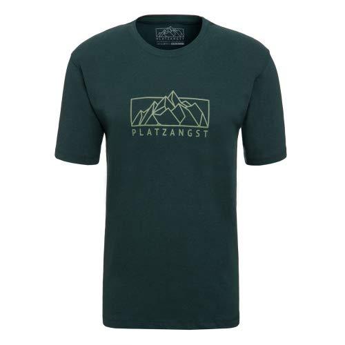 platzangst Mountain Logo T-Shirt - Grün Größe M