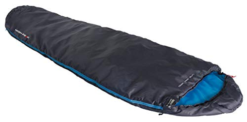 High Peak Lite Pak 1200 Sleepingbag Unisex-Adult, Anthracite/Blue, 225x80/50 cm