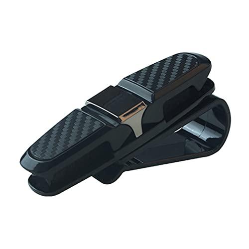 Hanone Clip de sujeción Universal portátil Clip para anteojos Abrazadera para Tarjeta de boleto ABS Fundas para Gafas de Coche Visera para el Sol para Coche Soporte para Gafas de Sol