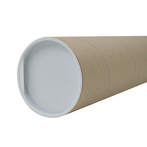 itenga Versandrolle 1m + Deckel Versandrohr 100x10cm Pappe Versandhülse Poster