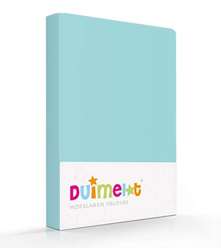 Duimelot Hoeslaken Aqua Velours, 80% Katoen, 20% Polyester, 220 gr/m2 Baby hoeslaken/Junior hoeslaken 60x120/70x140/150