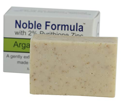 Noble Formula 2% Pyrithione Zinc (ZnP) Argan Oil Bar Soap, (3 Bars in 1 Box), Total 9 oz