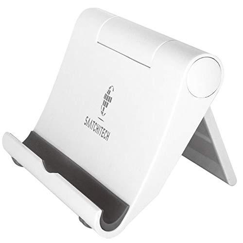 Porta Tablet da Tavolo Anche per Cellulare Regolabile Universale di Nuova Generazione Supporto Telefono Scrivania Holder Stand per E-Reader e Kindle (White Bianco)