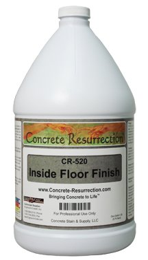 Concrete Resurrection Floor Wax - Professional Easy to Use and Install High Gloss Premium Floor Finish. Excellent repairability with high initial gloss and good durability.