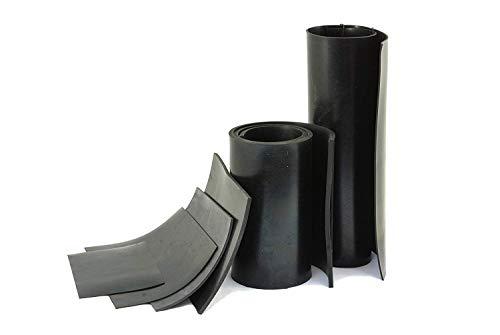 Zwart Neopreen Rubber Plaat 1 mm dik: Grootte A3 (420mm x 297mm)
